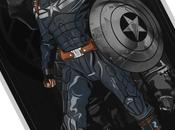 Impresionantes carteles ilustrados capitán américa, iron thor