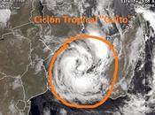 """forma ciclón tropical """"Guito"""" océano Índico"""