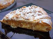 Pantxineta -hojaldre, crema pastelera almendra-