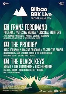 Distribución días Bilbao Live Festival