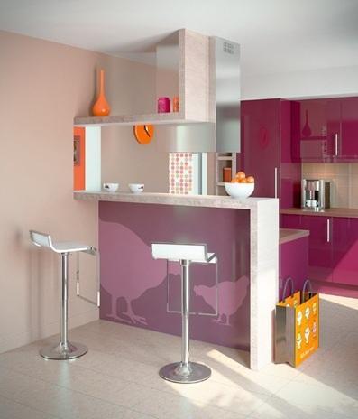 Cocinas peque as y modernas con barra paperblog for Cocinetas para cocinas pequenas