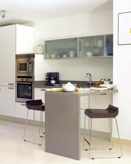 cocinas peque as y modernas con barra paperblog