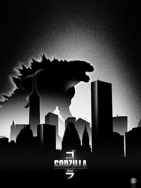 FANTASTICA COLECCION DE POSTERS FAN-ART DE GODZILLA