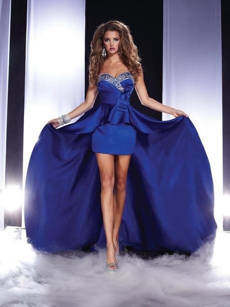 Vestido fiesta color azul