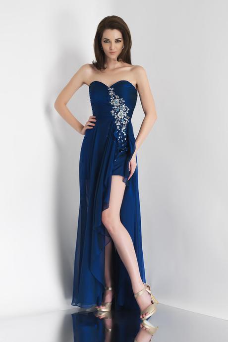 Vestidos de graduacion color azul