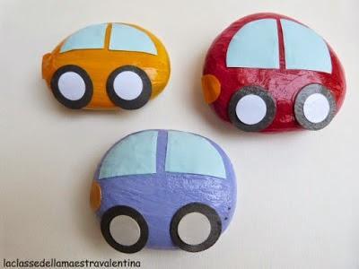 juguetes hechos a mano la idea de pintar piedras