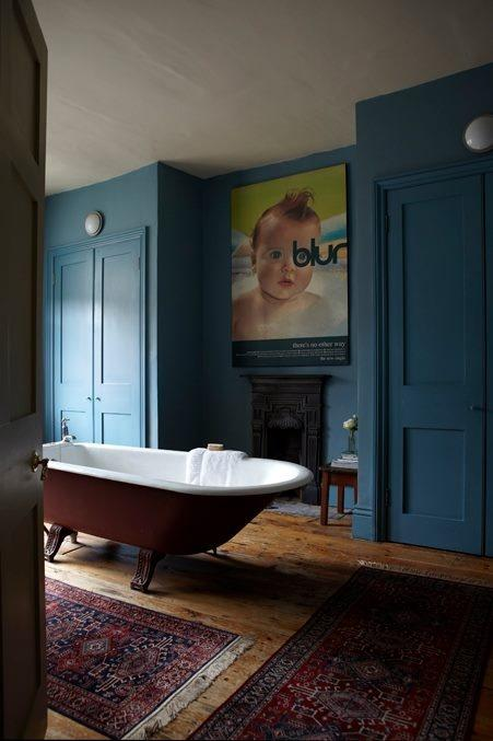Imagenes De Baños Azules:Paredes azules en los baños – Paperblog