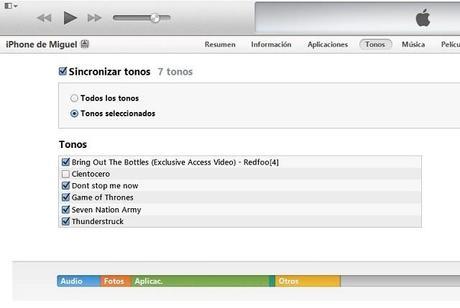 Seleccionar Una Cancion Como Tono De Llamada En iOS 7