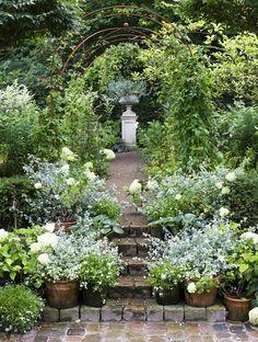 For my white garden (when I get it).  This would be easy to incorporate, with a few steps and the arch.