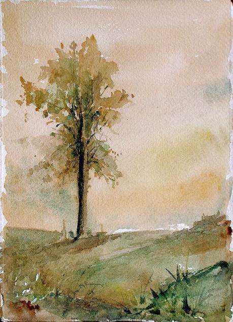 Acuarelas De 225 Rboles Watercolor Trees Paperblog