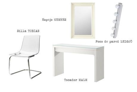C mo organizar un tocador en el dormitorio paperblog - Espejo camerino ikea ...