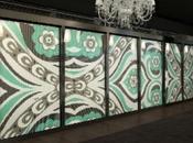 Estampados textiles mosaico. Bisazza viste Emilio Pucci.