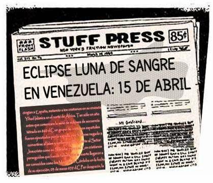 Portada versión cómic eclipse total luna en Venezuela