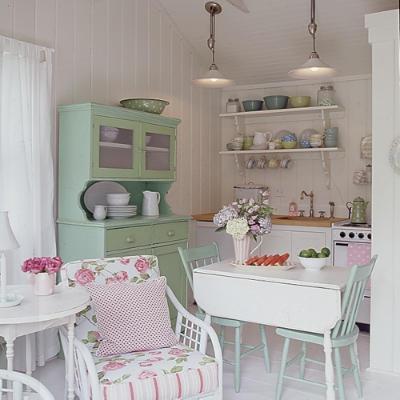 Bellas cocinas decoradas en color pastel paperblog - Cocinas estilo shabby chic ...