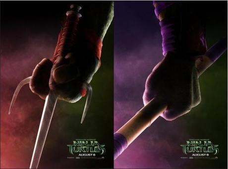 teasers posters ninja turtles