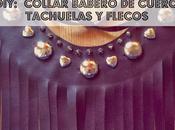 Diy: Collar babero cuero flecos tachuelas (Patrón gratis)