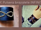 DIY: Pulsera brazalete Infinito cuero tachuelas Patrón gratis