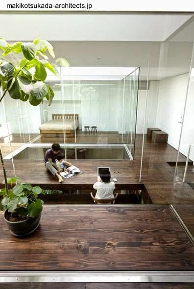 Casa c bica japonesa con dise o interior original paperblog - Jardin japones interior ...