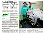 padre menor vigués tenido ingresado Coruña reúne 18.000 firmas creación unidad lesionados medulares Vigo