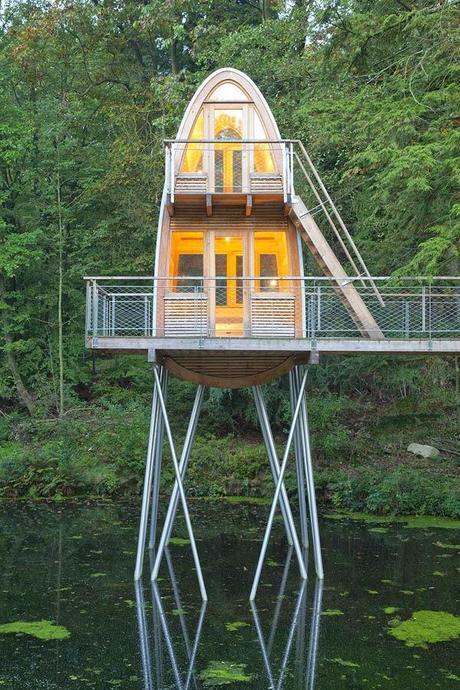 Rustica y moderna en el bosque paperblog - Arquitectura rustica moderna ...