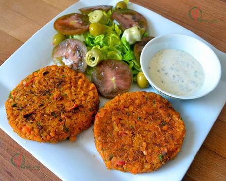 Hamburguesas de lentejas rojas y verduras paperblog - Calorias alubias cocidas ...