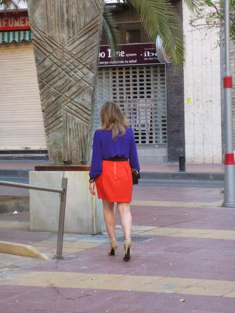 LOOK326-16.4.2014ORANGE AND PURPLE.¡¡Hola amigas!!!Espero...