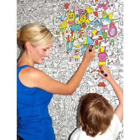 pintar paredes papel infantil