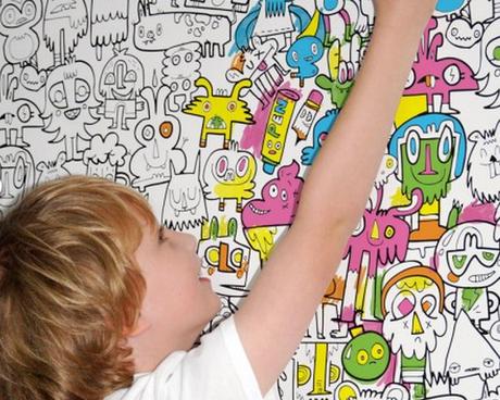solución pintar paredes niños