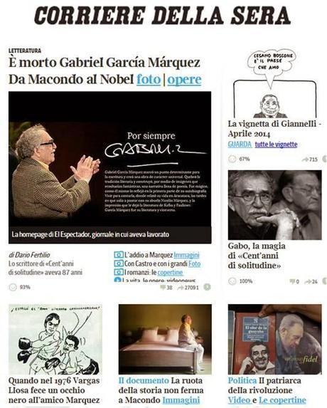 EL PERIODISMO INTERNACIONAL RECUERDA A GABRIEL GARCÍA MÁRQUEZ