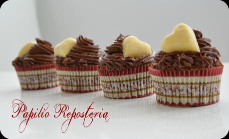 Cupcakes tres chocolates (especial San Valentín)