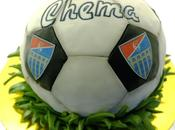 Tarta futbol Gimnástica Segoviana