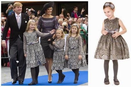 Pili Carrera vistiendo a pequeñas princesas