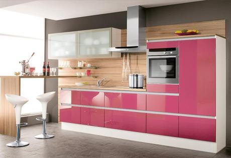 Top 20 cocinas en color rosa paperblog for Cocinas de color rosa