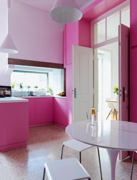 Top 20 cocinas en color rosa paperblog - Cocinas de color rosa ...