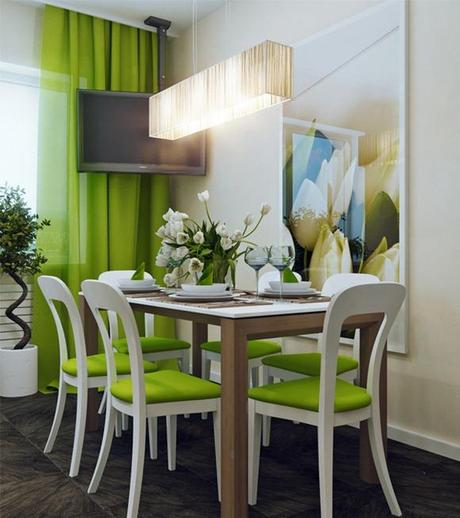 Bellos comedores en color verde paperblog for Comedores modernos color blanco