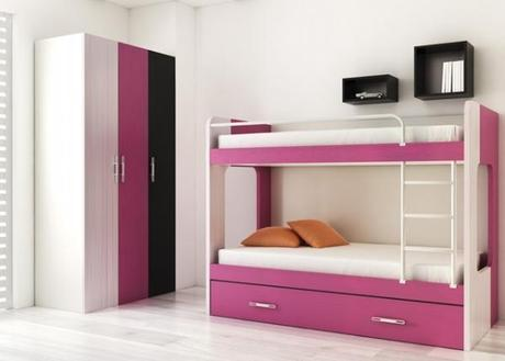 Lindas camas camarote para dormitorio de ni as paperblog - Camas literas para ninas ...
