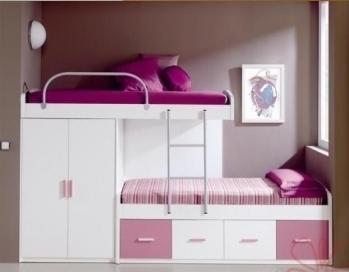 Lindas camas camarote para dormitorio de ni as paperblog - Camas con tobogan para ninos ...