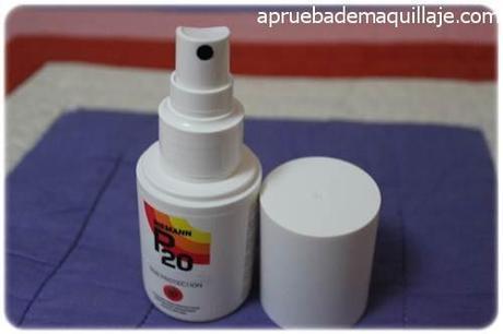 Bote en spray del protector solar P20 de riemann