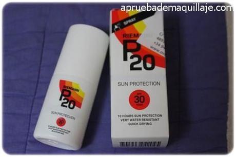 Caja y envase del protector solar P20 de riemann