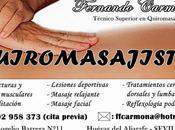 Fernando carmona ejerce quiromasajista