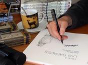 Firmando durante Internacional Libro