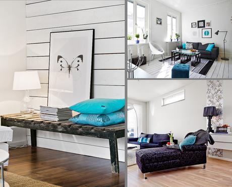 Vuelve la decoraci n en color turquesa paperblog for Cual es el estilo minimalista