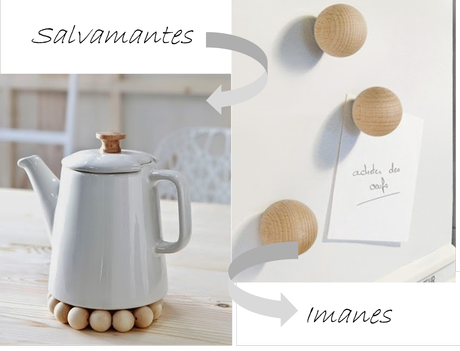 Decoraci n natural con bolas de madera paperblog for Decoracion madera natural