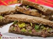 Sandwich atún salsa yogur