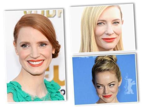 Jessica Chastain, Cate Blanchett y Emma Stone.