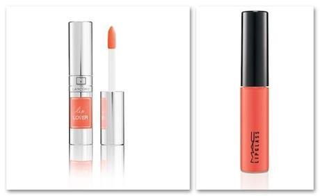 Lip Lover, de Lancôme, y Playland Lipglass, color Live it Up, de MAC.