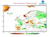 Previsión meteorológica mayo junio España 2014 según NOAA