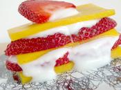 Milhojas mango fresa