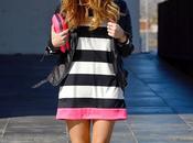 black, white pink