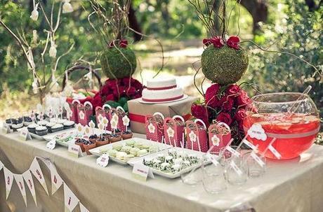 de mesas para fiesta de nias